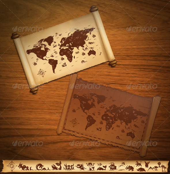 Old World Map - Decorative Vectors