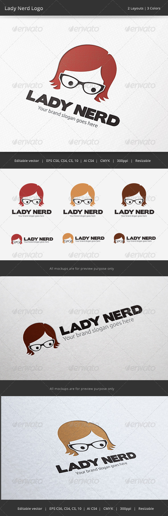 Geek Girl Logo - Humans Logo Templates