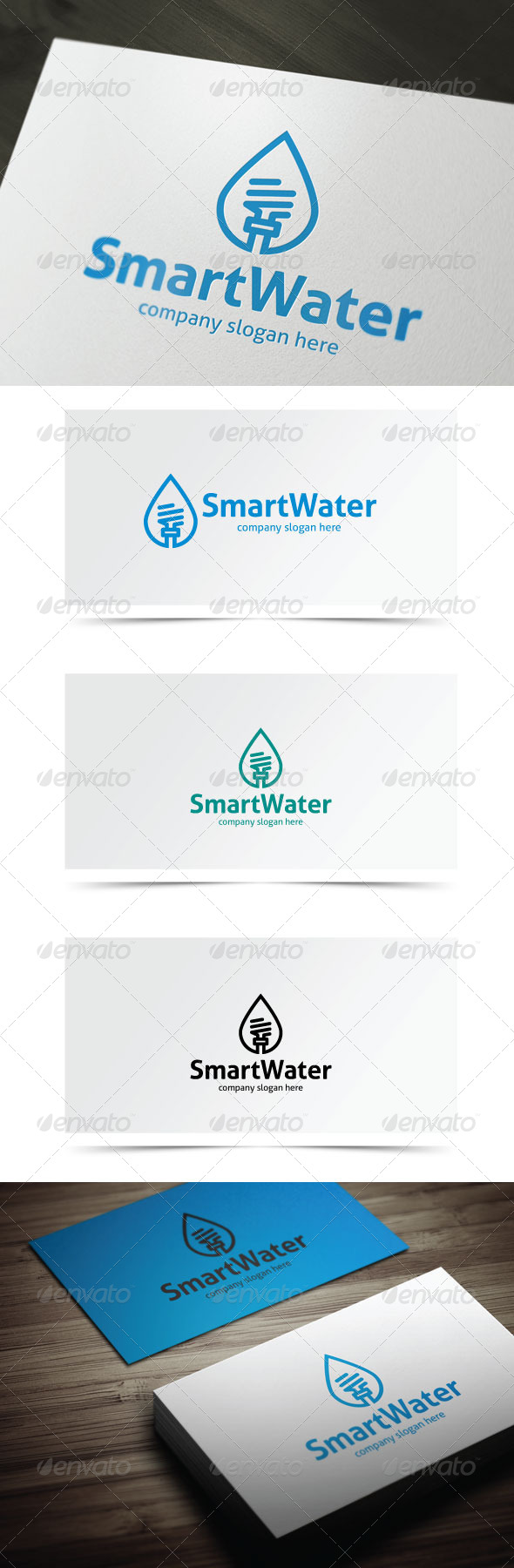 Smart Water - Objects Logo Templates