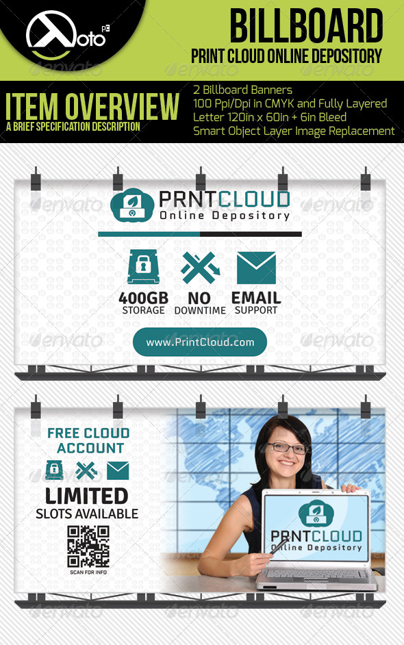 Print Could Online Depository Billboards - Signage Print Templates