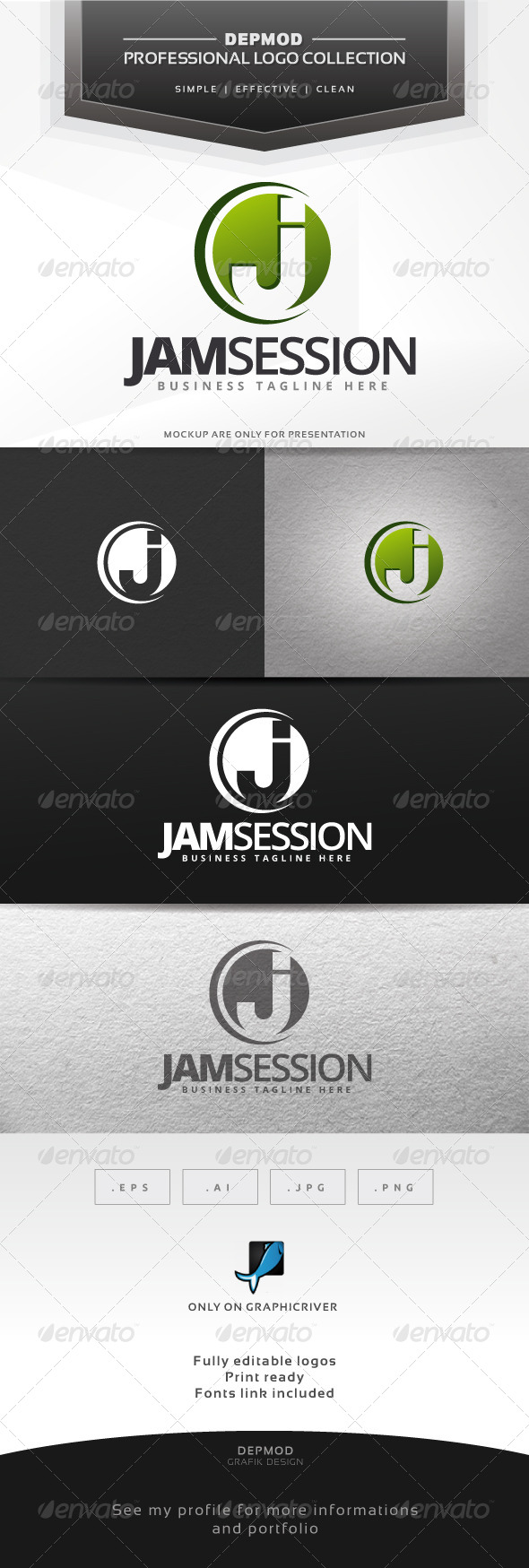 Jam Session Logo - Letters Logo Templates