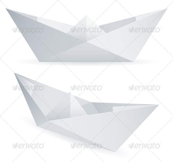 Paper Ships - Objects Vectors