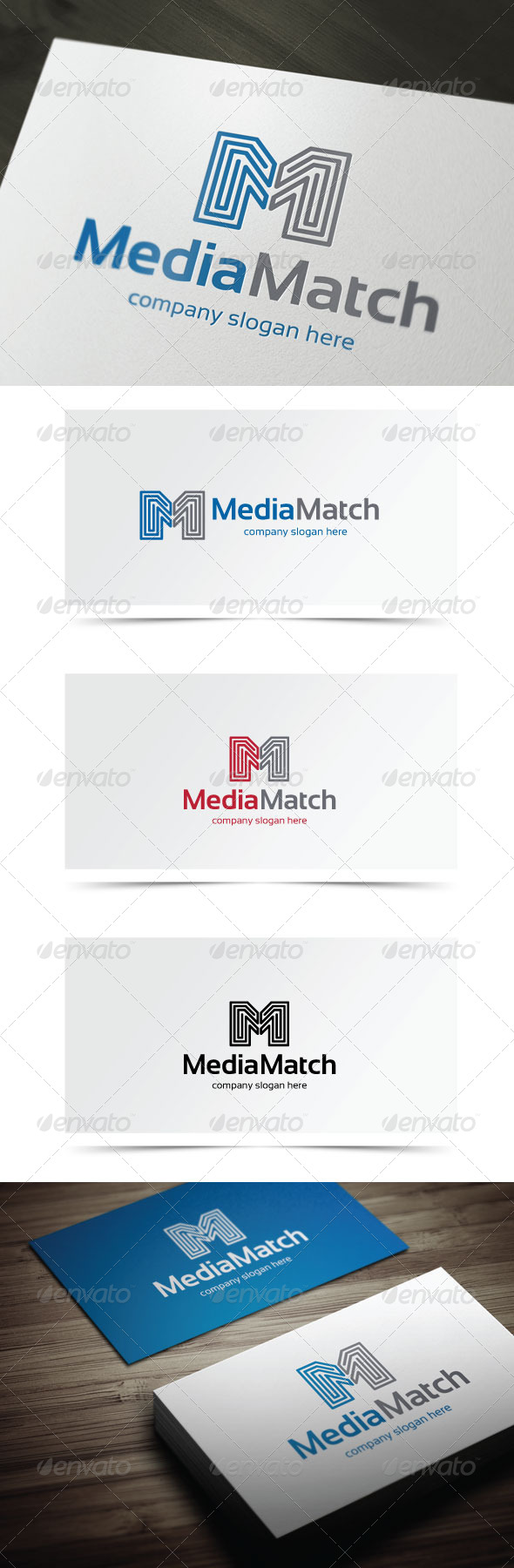 Media Match - Letters Logo Templates