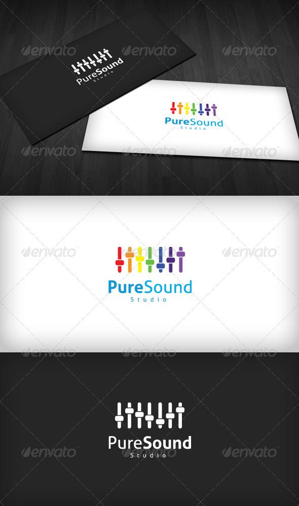 Pure Sound Studio Logo - Symbols Logo Templates