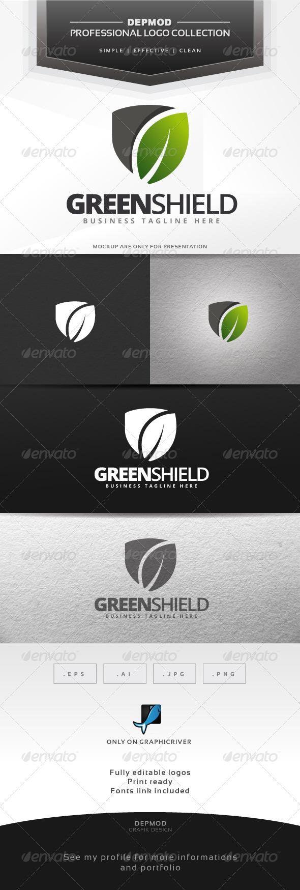 Green Shield Logo - Symbols Logo Templates