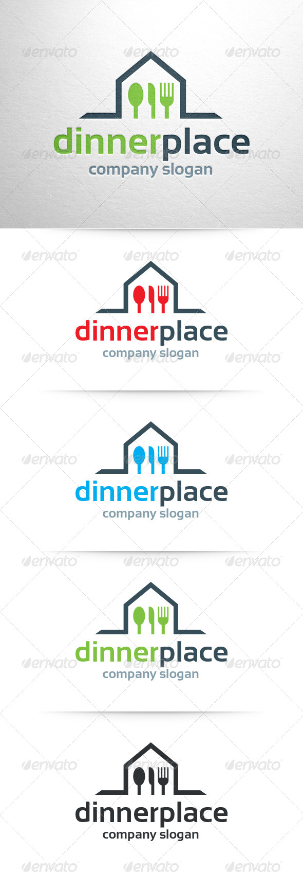 Dinner Place Logo Template - Objects Logo Templates