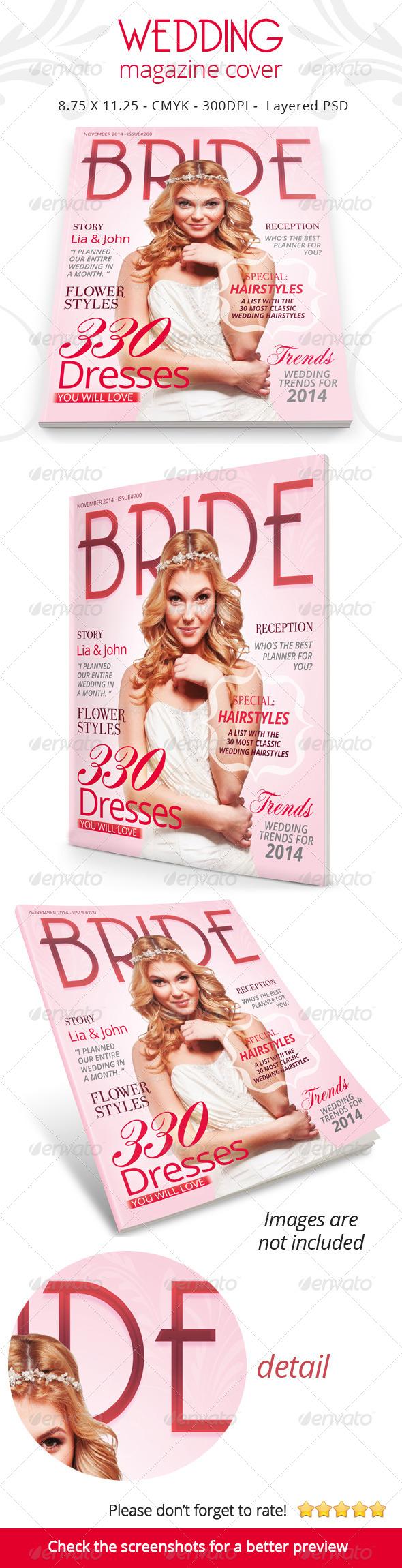 Wedding Magazine Cover - Magazines Print Templates