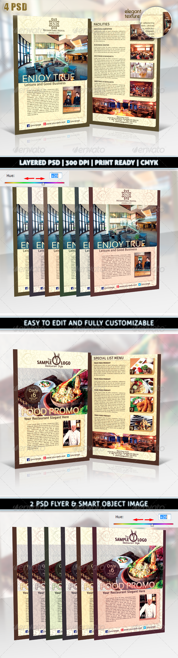 Hotel or Restaurant Elegant Promotion Flyer - Corporate Flyers