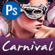 Carnival Eyes Wide Shock Masked Party - GraphicRiver Item for Sale