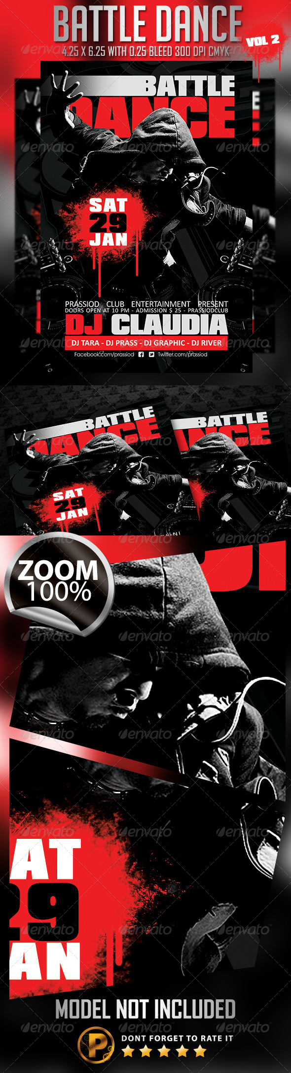 Battle Dance Flyer Template Vol 2 - Clubs & Parties Events