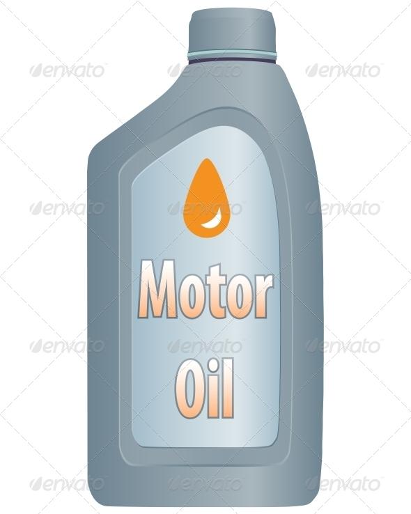 Motor Oil Bottle - Miscellaneous Vectors