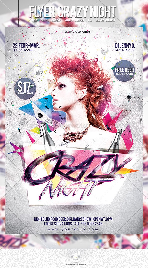 Flyer Crazy Night - Clubs & Parties Events