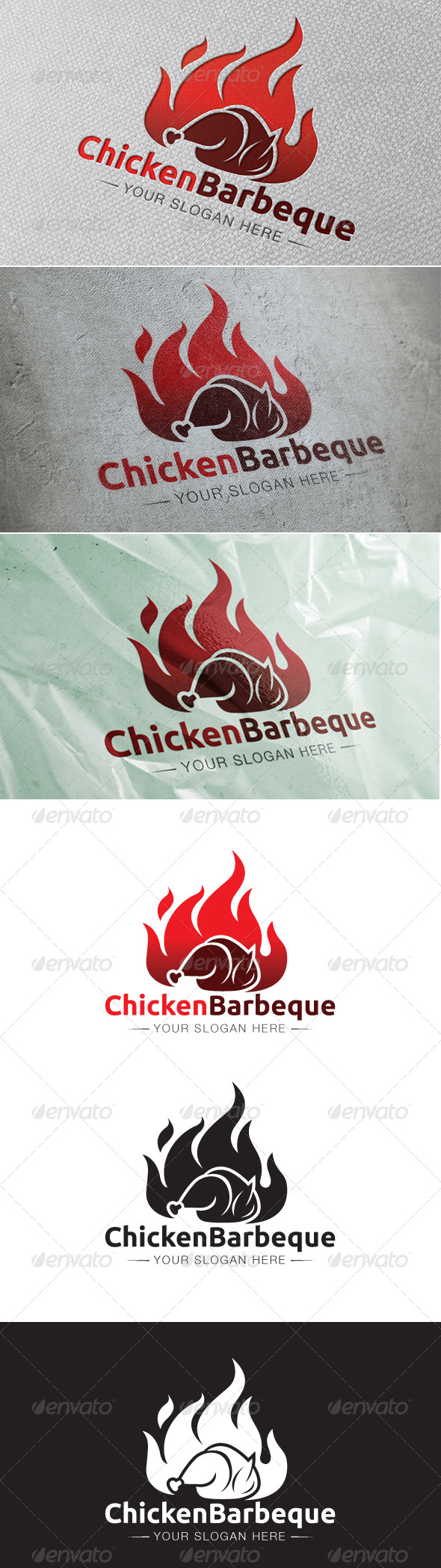 Chicken Barbeque Logo Template - Animals Logo Templates