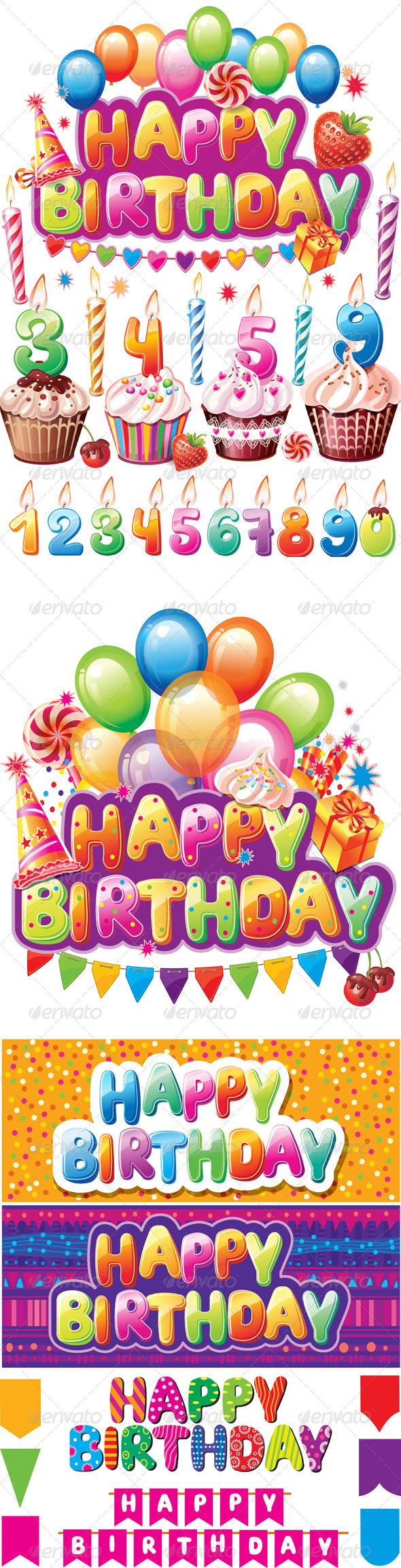 Set for Birthday Cards - Birthdays Seasons/Holidays
