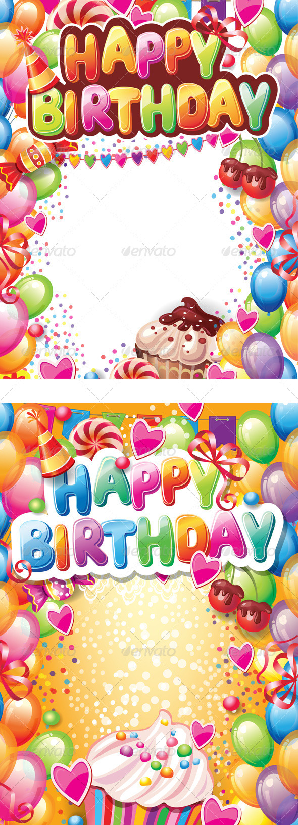 Template for Happy Birthday Card - Birthdays Seasons/Holidays