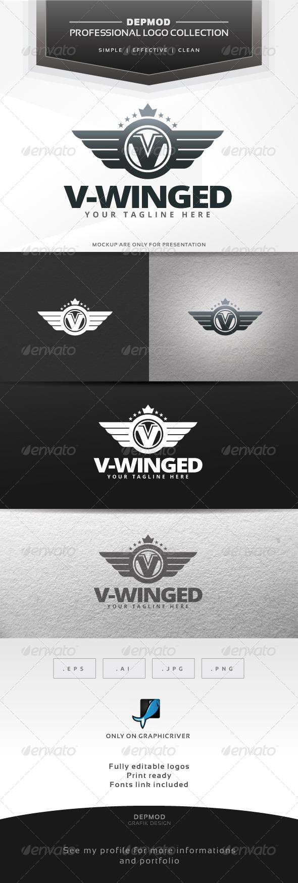 V-Winged Logo - Crests Logo Templates
