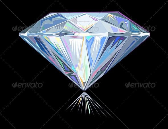 Diamond on Black - Organic Objects Objects