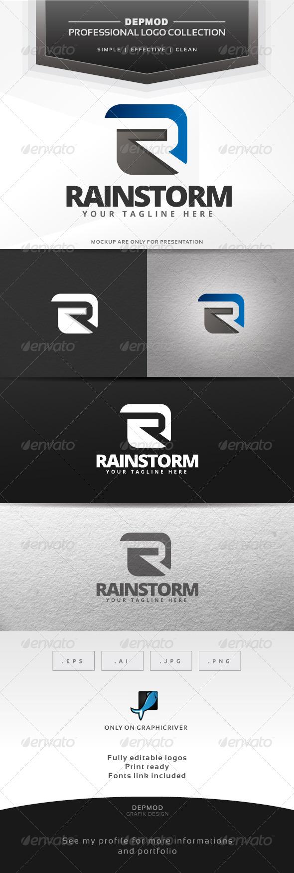 Rainstorm Logo - Letters Logo Templates