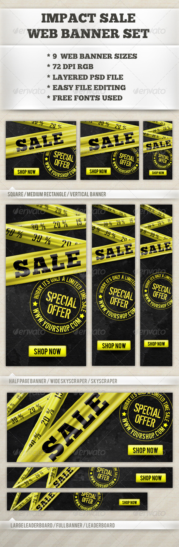 Impact Sale Banner - Banners & Ads Web Elements