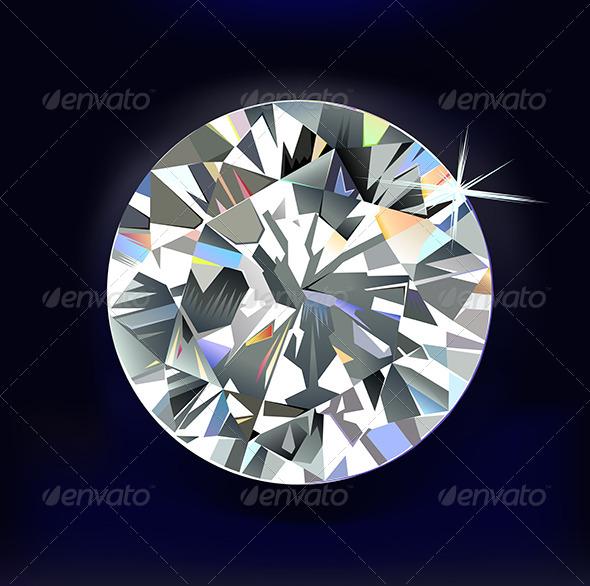 Diamond on Dark-Blue - Man-made Objects Objects