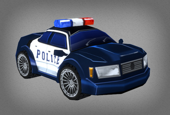 Toon Police Car - 3DOcean Item for Sale