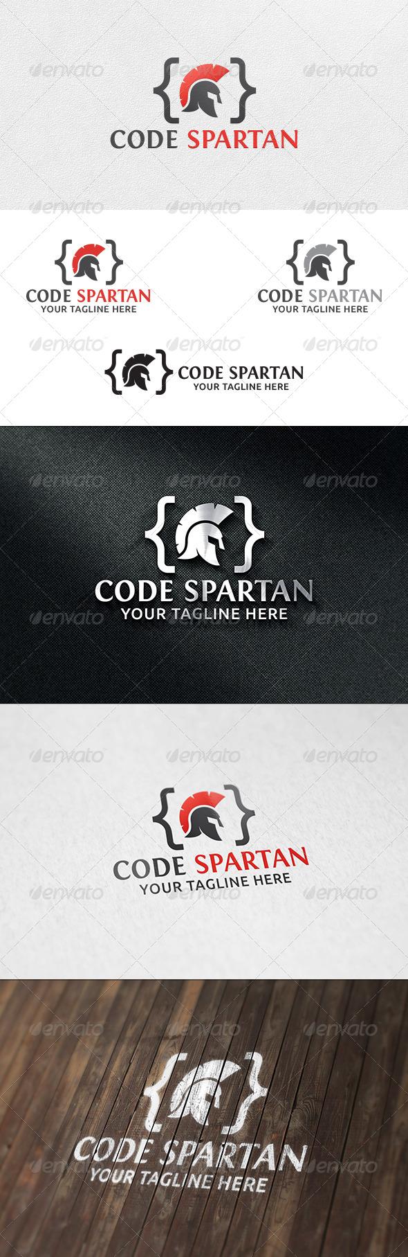 Code Spartan - Logo Template - Humans Logo Templates