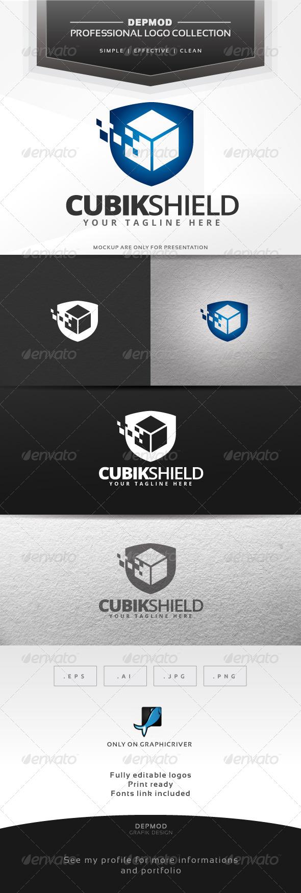 Cubik Shield Logo - Symbols Logo Templates