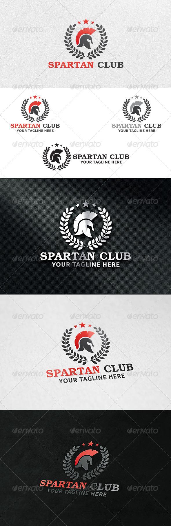 Spartan Club - Logo Template - Crests Logo Templates