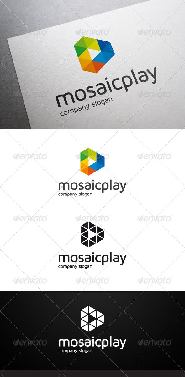 Mosaic Play Logo V2 - Abstract Logo Templates