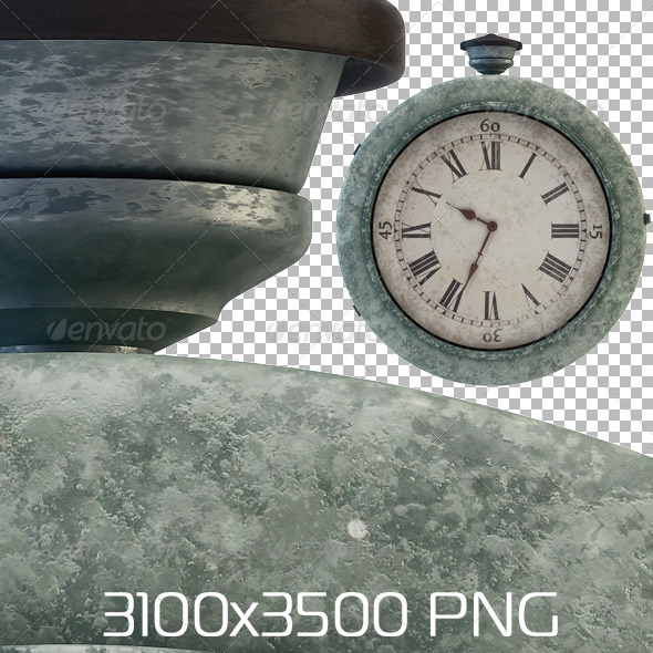 Railway Station Old Clock - Objects 3D Renders