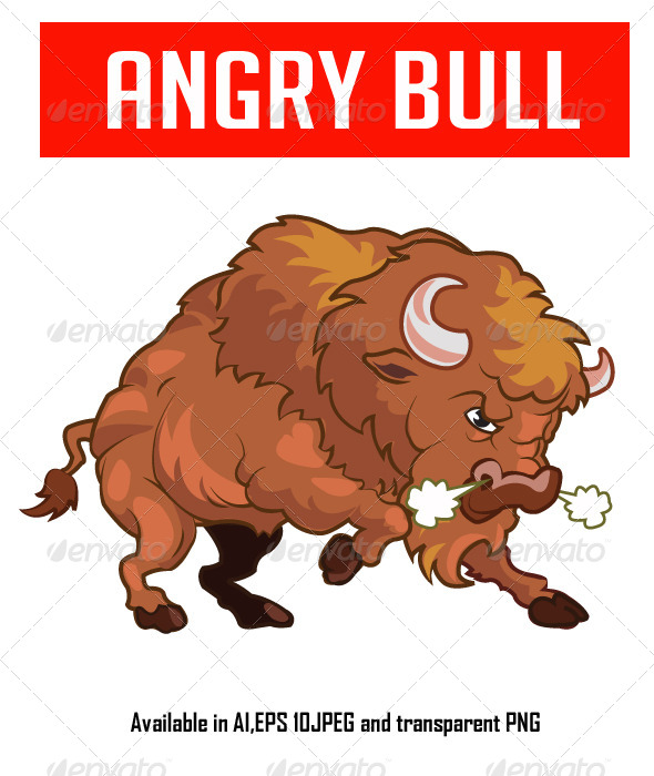 Angry Bull - Animals Characters