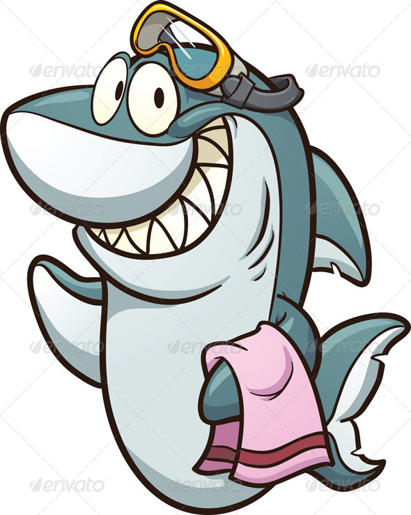 Shark with Goggles - Animals Characters