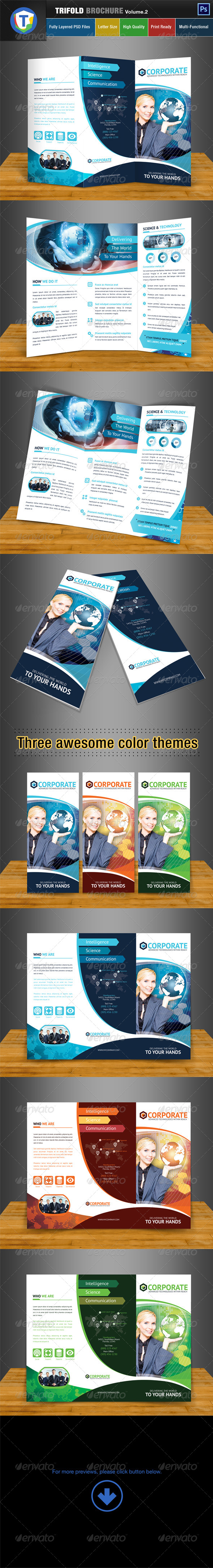 Trifold Brochure - Volume 2 - Brochures Print Templates