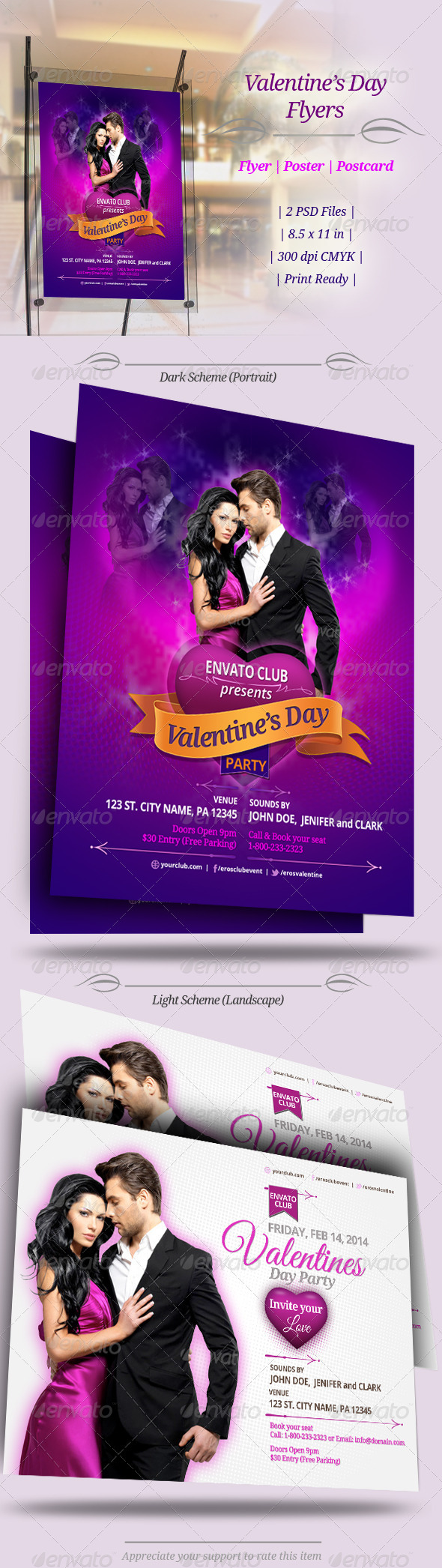 Valentines Day Party Flyers - Clubs & Parties Events