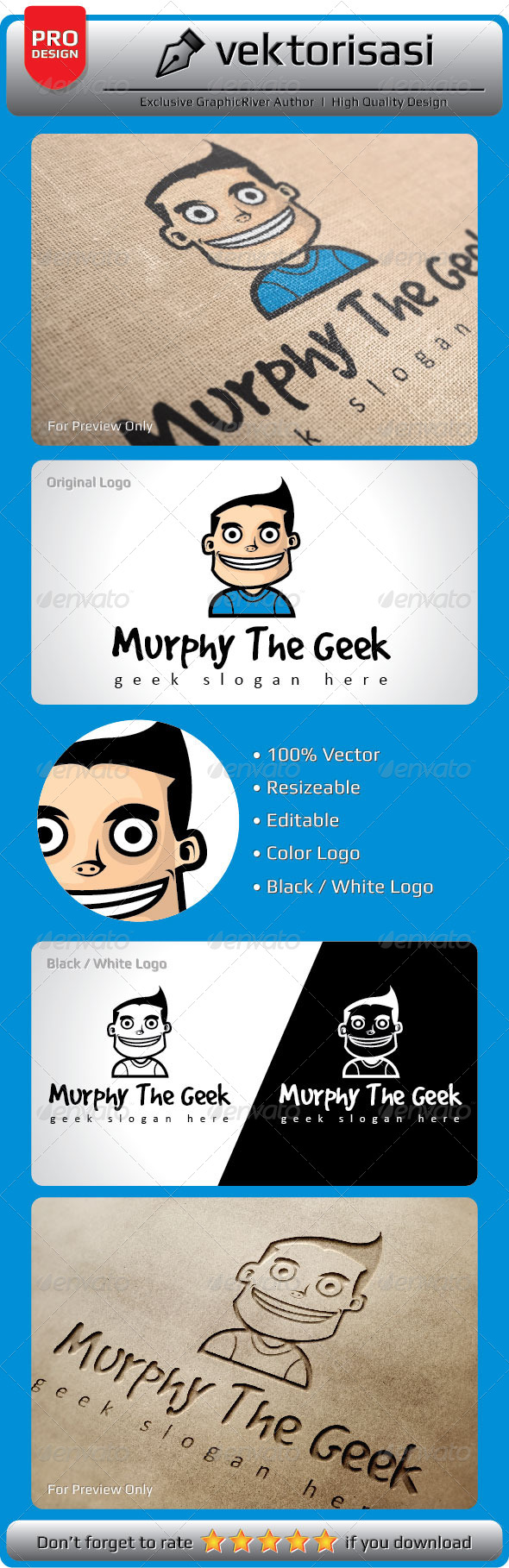 Murphy the Geek Logo - Humans Logo Templates