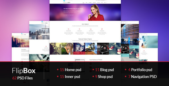 FlipBox-PSD Theme - Corporate PSD Templates