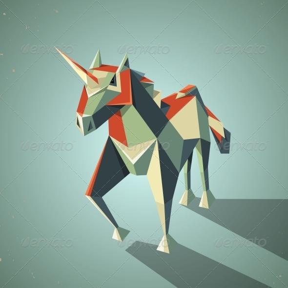Origami Unicorn - Animals Characters