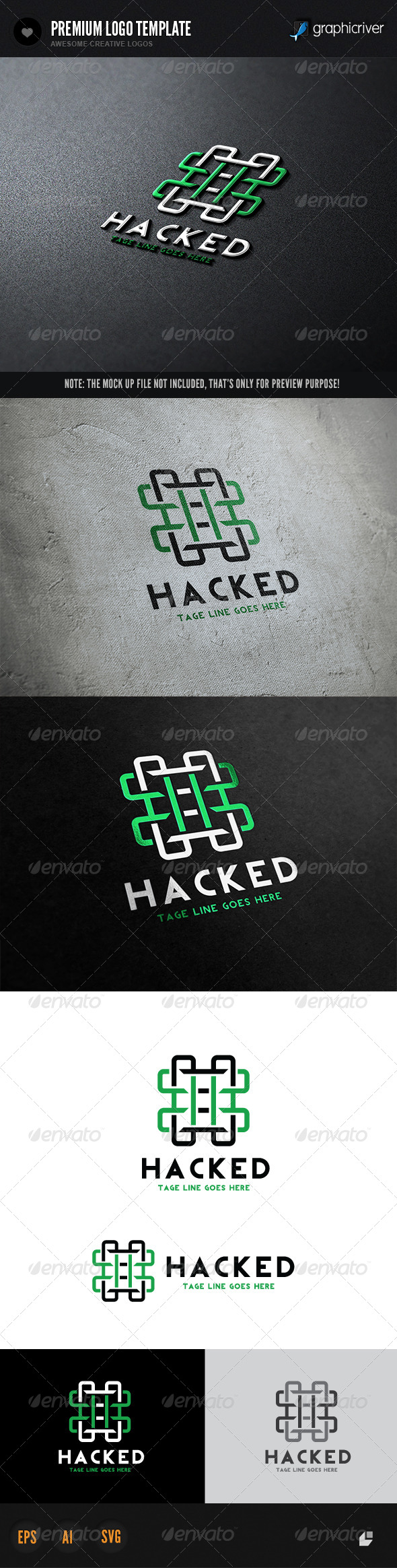 Hacked Logo - Letters Logo Templates