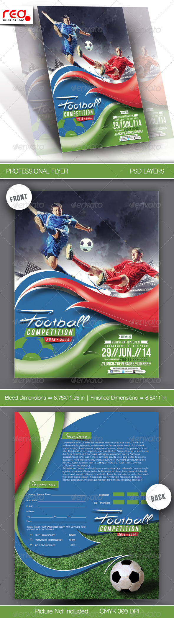 Football Competitions Flyer Template - Sports Events