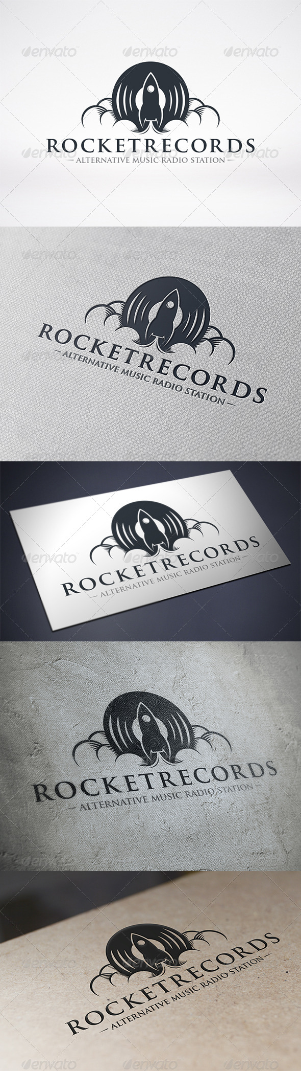 Rocket Records Logo Template - Objects Logo Templates