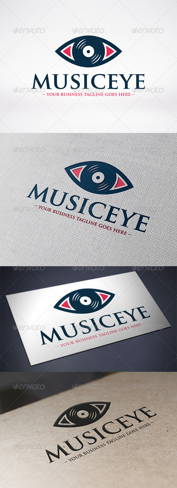 Music Eye Logo Template - Symbols Logo Templates