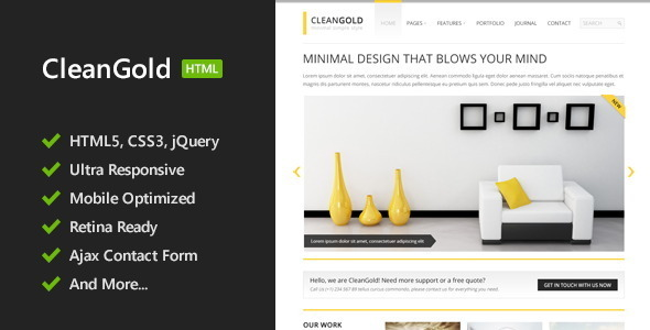 CleanGold – HTML5 Site Template