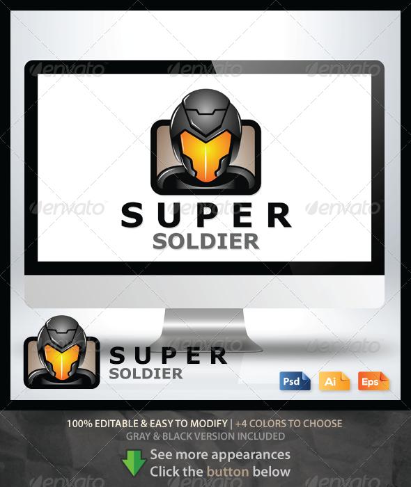 Super Soldier Logo - Humans Logo Templates