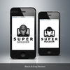 Super soldier logo vector template black gray.  thumbnail