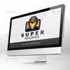 Super soldier logo vector template mac.  thumbnail