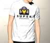 Super soldier logo vector template tshirt.  thumbnail