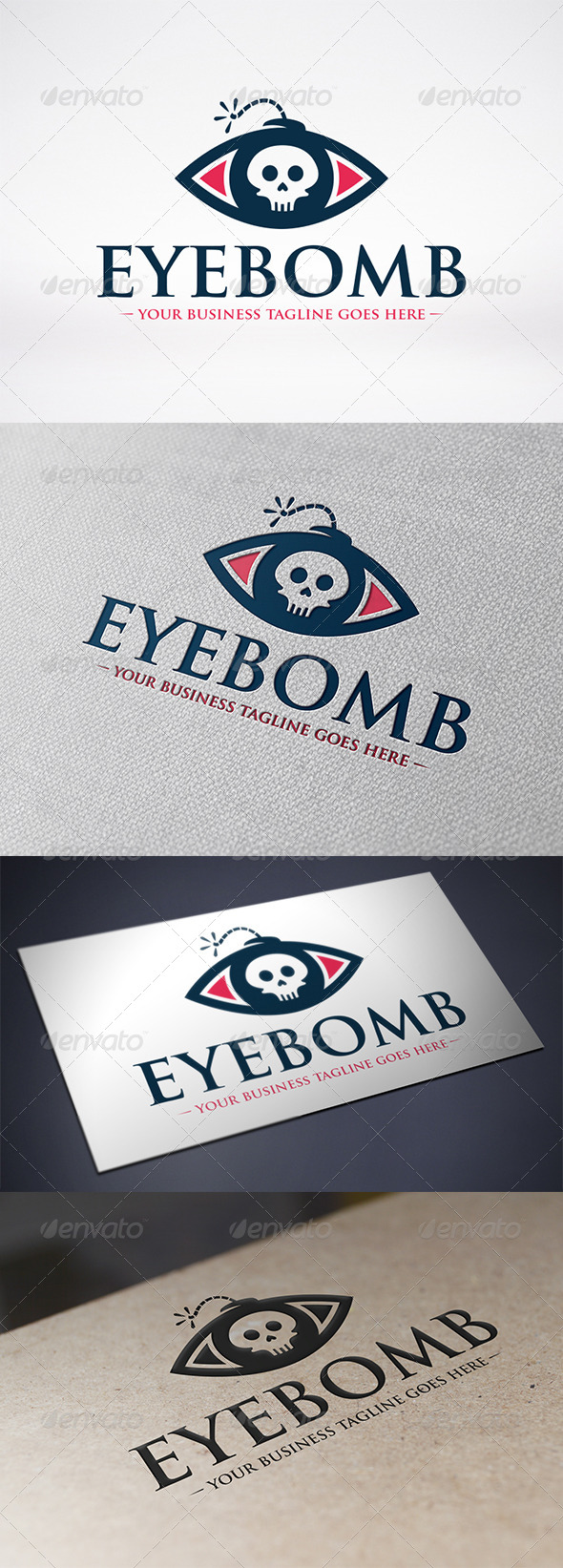 Eye Bomb Logo Template - Humans Logo Templates