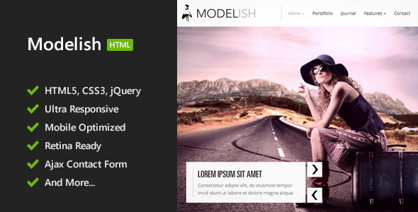 Modelish – HTML5 Site Template