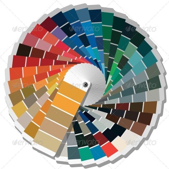 Color Palette Guide - Web Elements Vectors