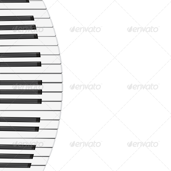 Piano Keys Background - Web Elements Vectors